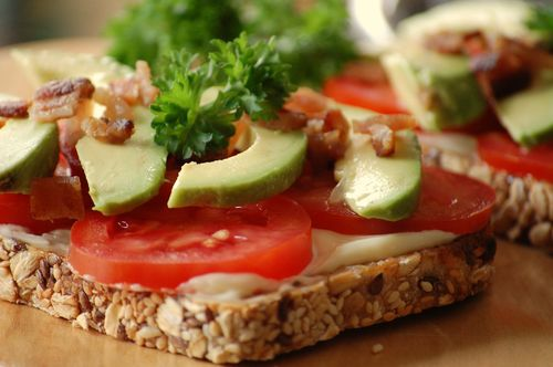 Bacon Tomato and Avocado Tartines for blog
